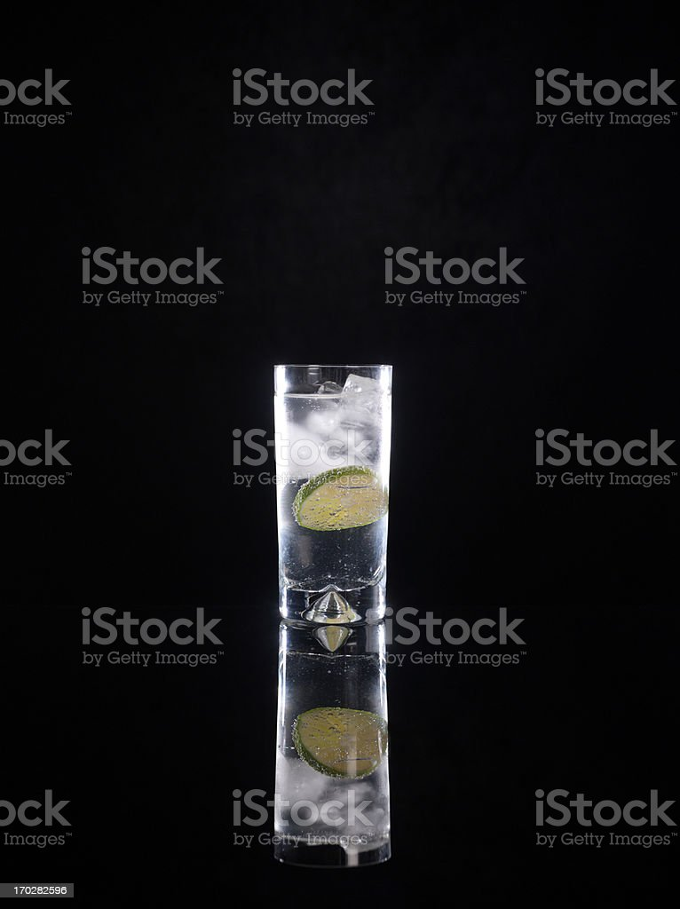 Cocktail in highball glass stock photo