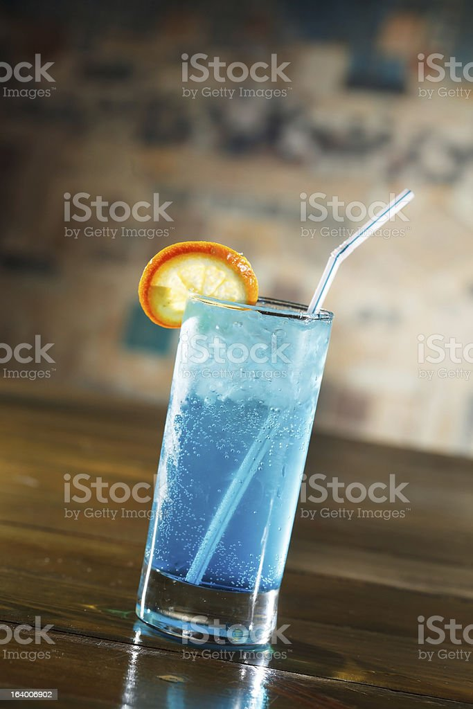 cocktail in the bar royalty-free stock photo