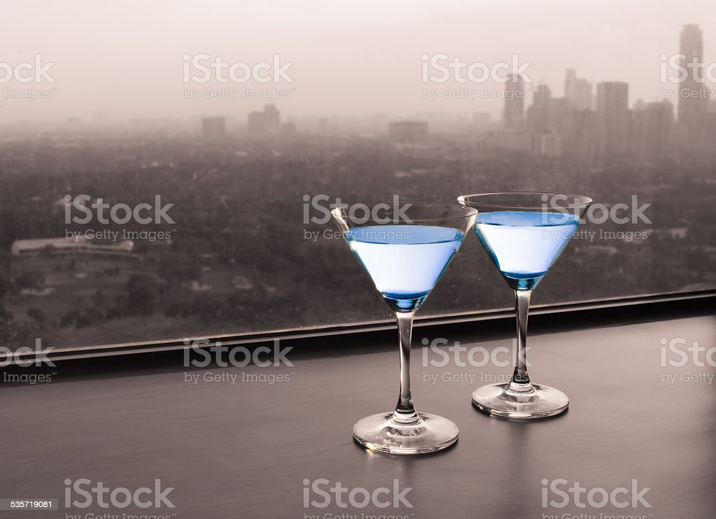 Cocktail in the city stock photo