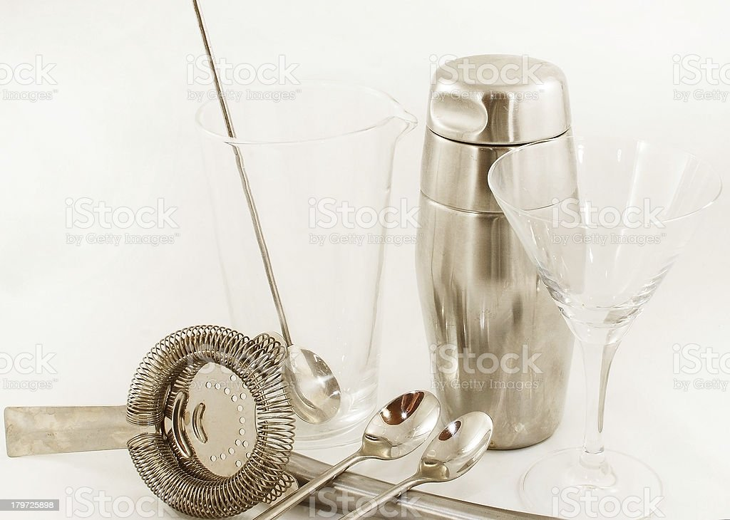 Cocktail instruments closeup ready to party royalty-free stock photo