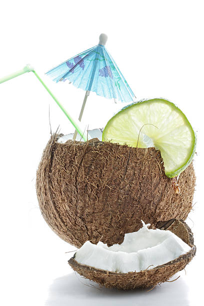 Cocktail made of coconut stock photo