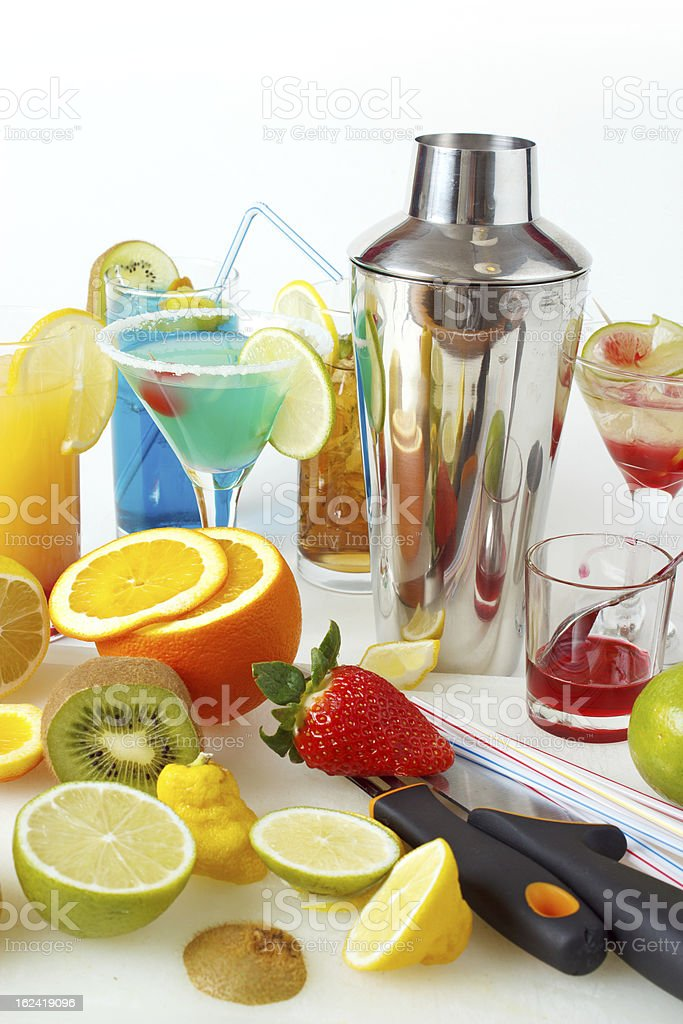 Cocktail making equipments royalty-free stock photo