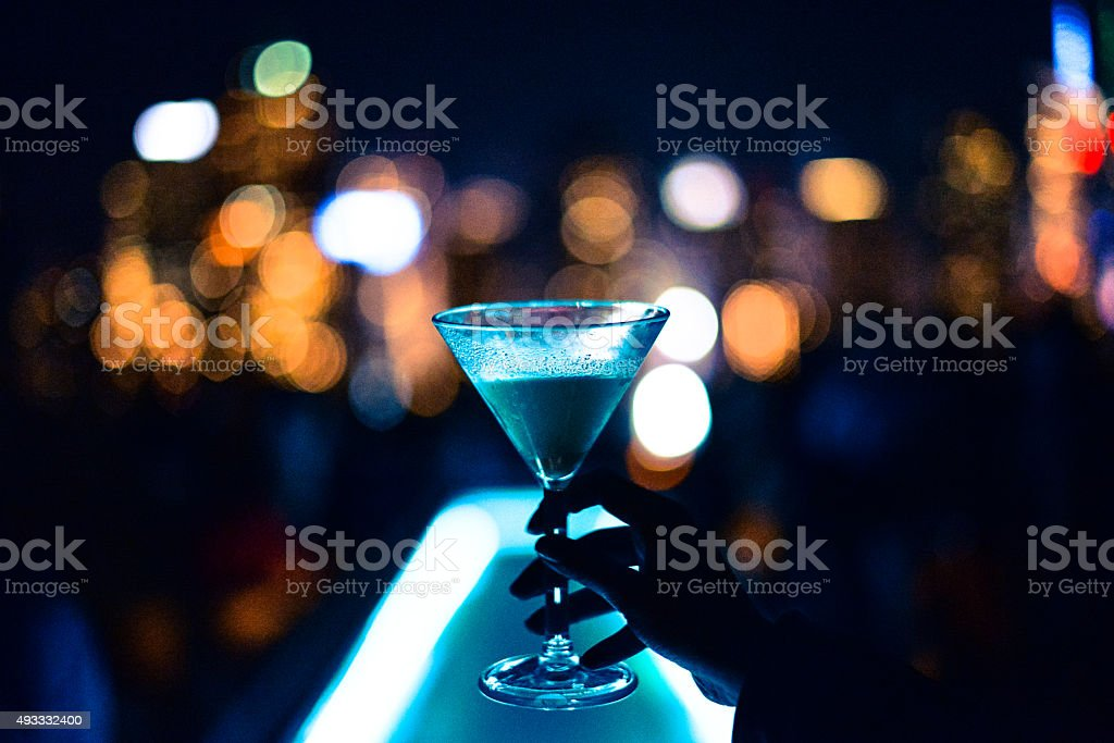 cocktail manhattan stock photo