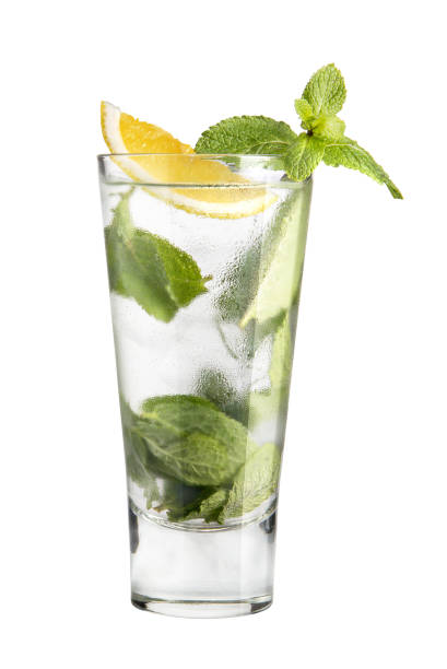 Cocktail mojito on a white background stock photo