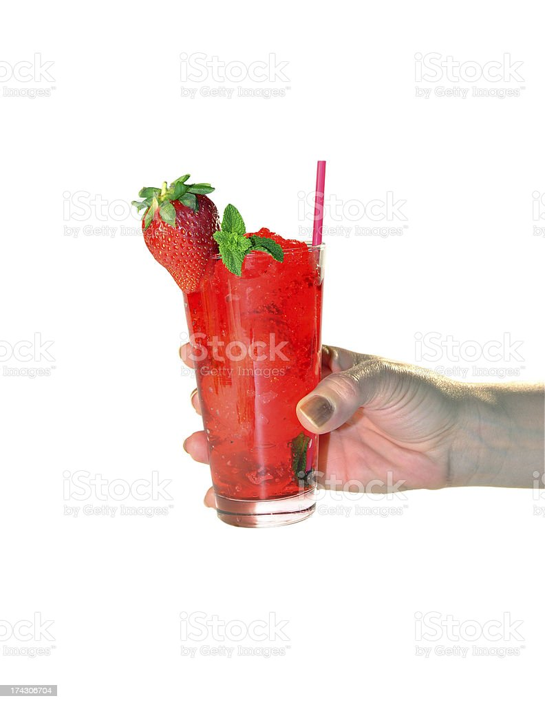 cocktail mojito strawberry royalty-free stock photo