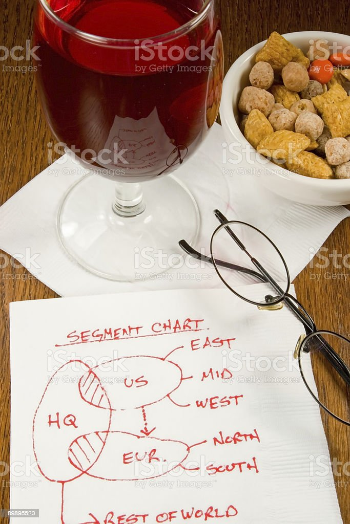Cocktail Napkin Ideas royalty-free stock photo