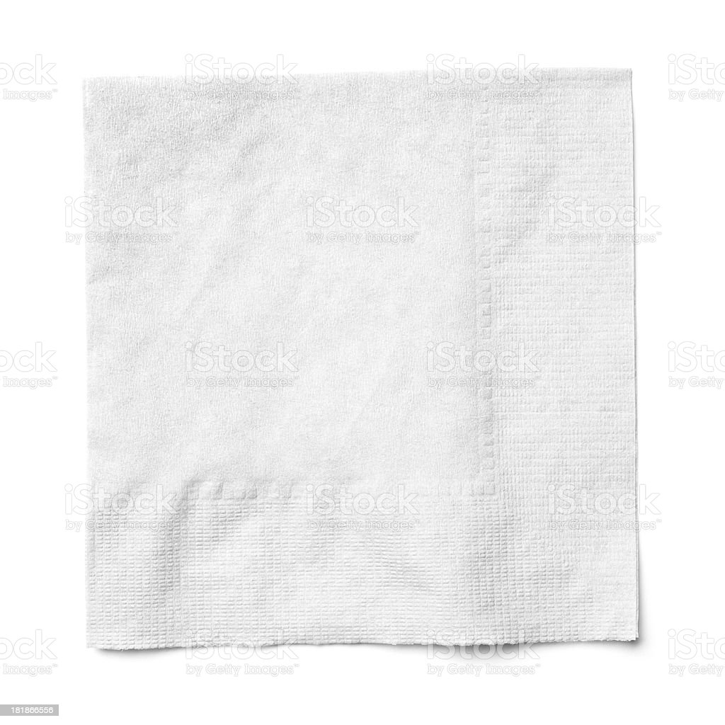 Cocktail napkin on white background stock photo
