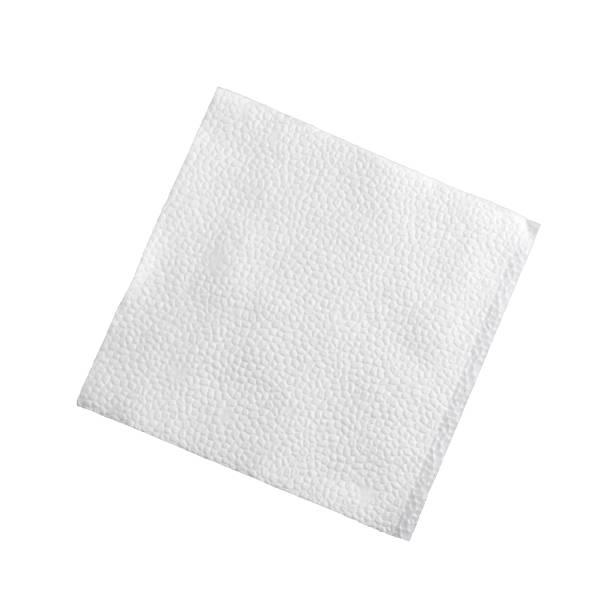Cocktail napkin on white stock photo