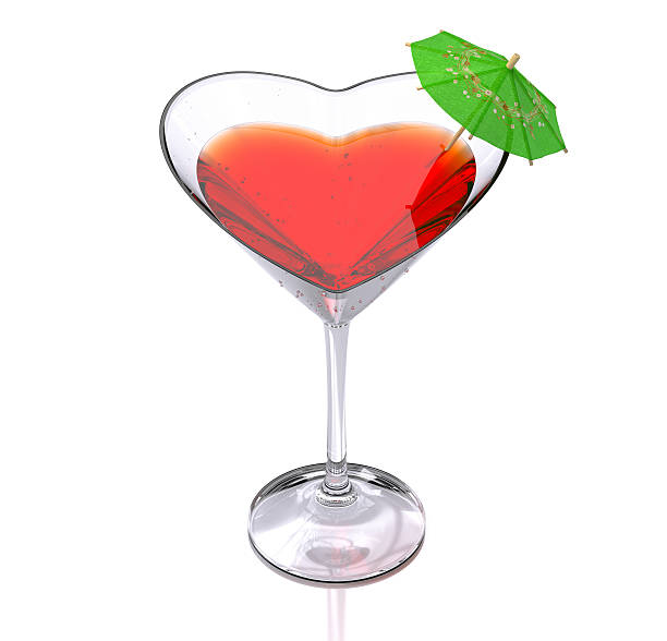 cocktail of love stock photo