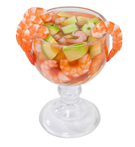 cocktail-garnelen - peperoni stiche stock-fotos und bilder