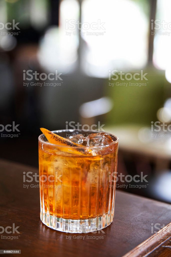 Cocktail on a bar stock photo