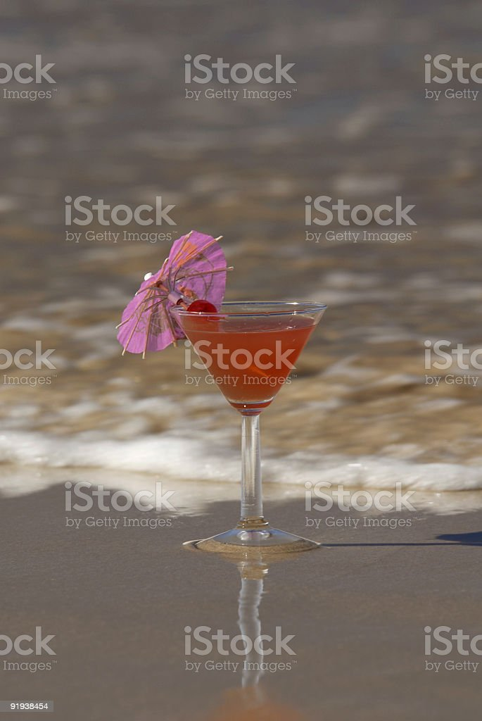 Cocktail on the beach2 royalty-free stock photo