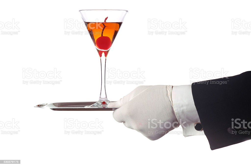 Cocktail On Tray stock photo