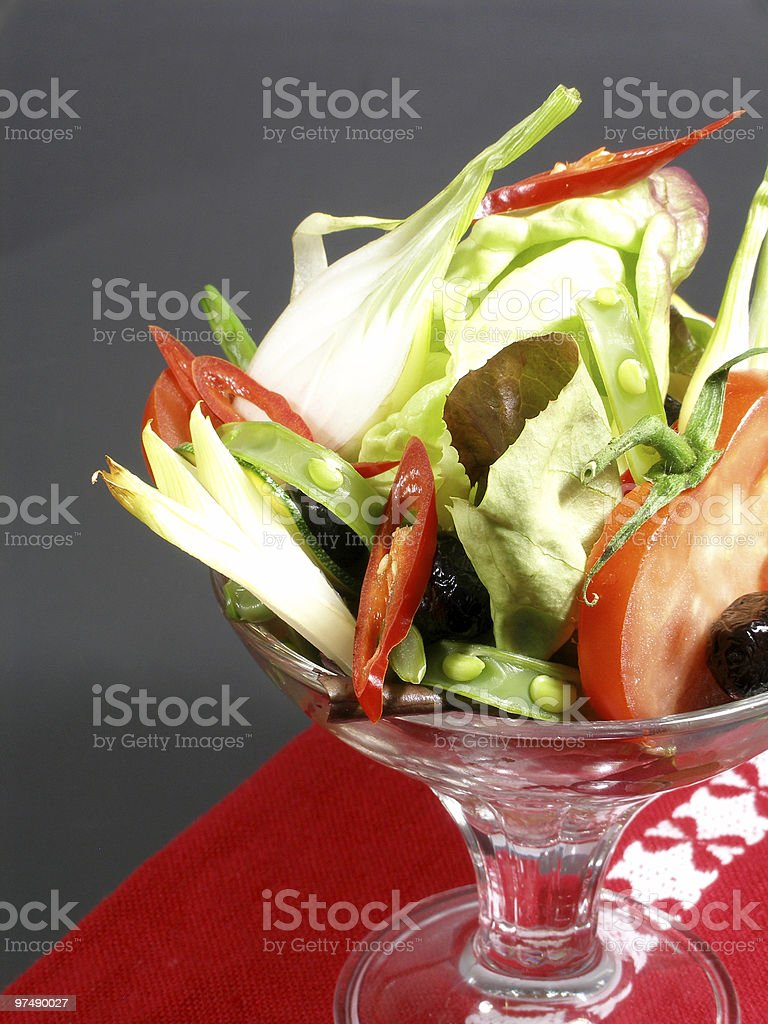 Cocktail oof raw vegetables royalty-free stock photo