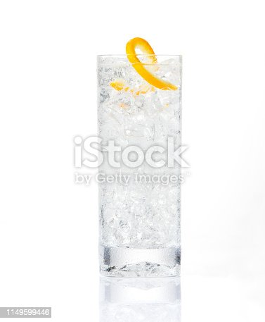craft cocktail on white background