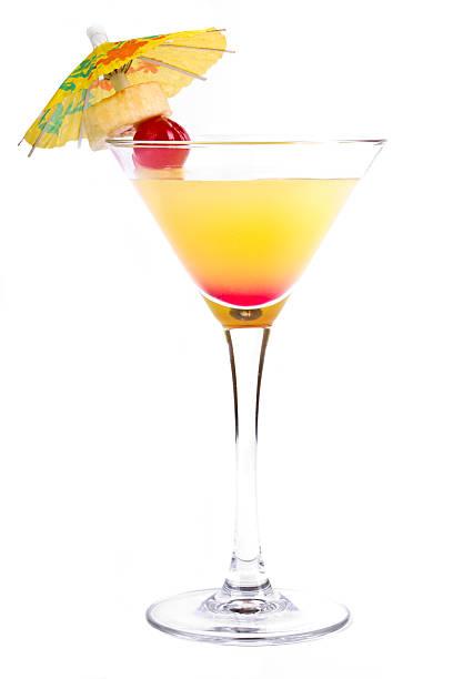 cocktail - bananenlikör stock-fotos und bilder