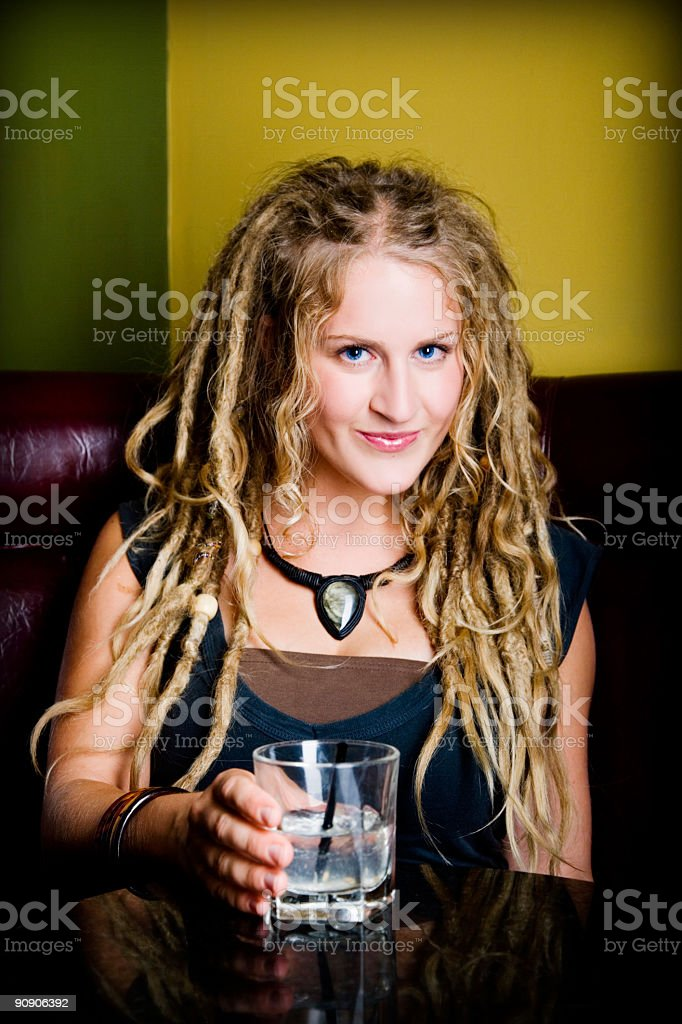 Cocktail Portrait royalty-free stock photo