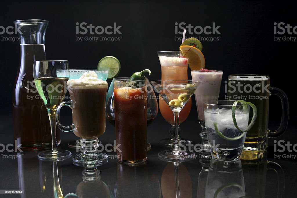 Cocktail reflections 2. stock photo