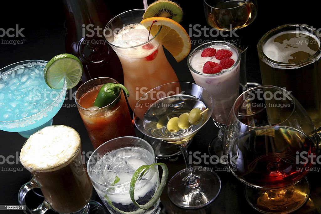 Cocktail reflections 9. stock photo
