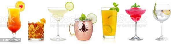 Cocktail Set Op Wit Stockfoto en meer beelden van Alcohol