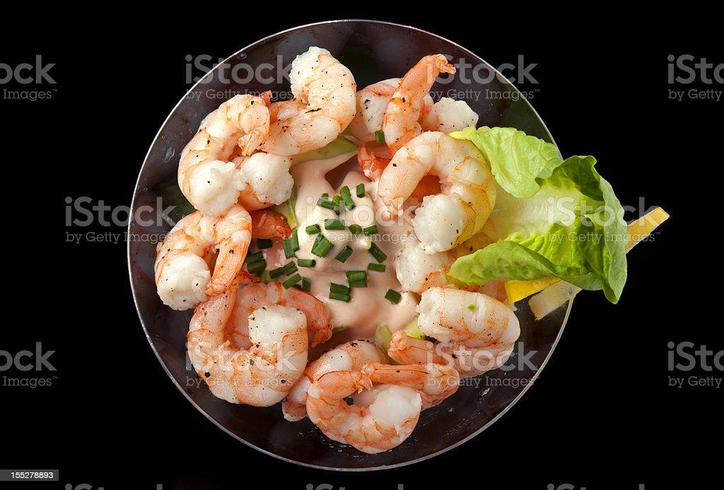 Cocktail Shrimp with Avocado Salsa stock photo