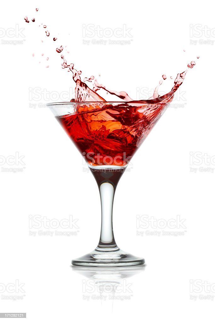 Cocktail splashing stock photo