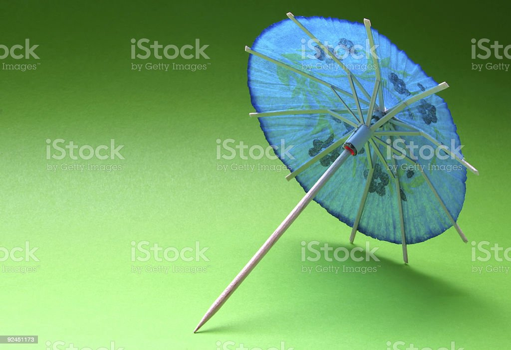 cocktail umbrella - blue #3 royalty-free stock photo
