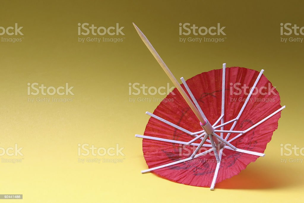 cocktail umbrella - red #1 royalty-free stock photo