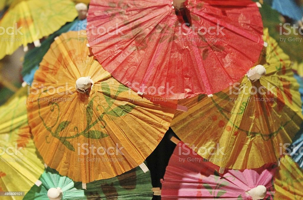 cocktail umbrella still life only stock photo
