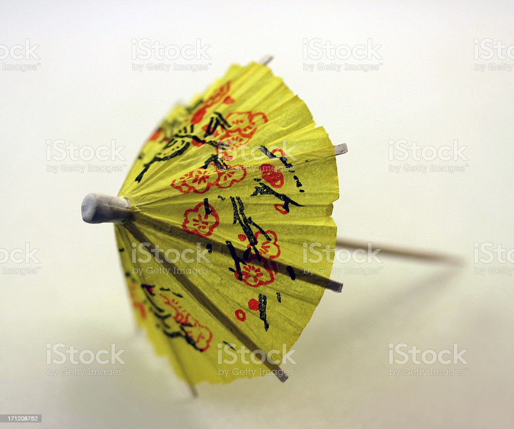 cocktail umbrella, yellow royalty-free stock photo