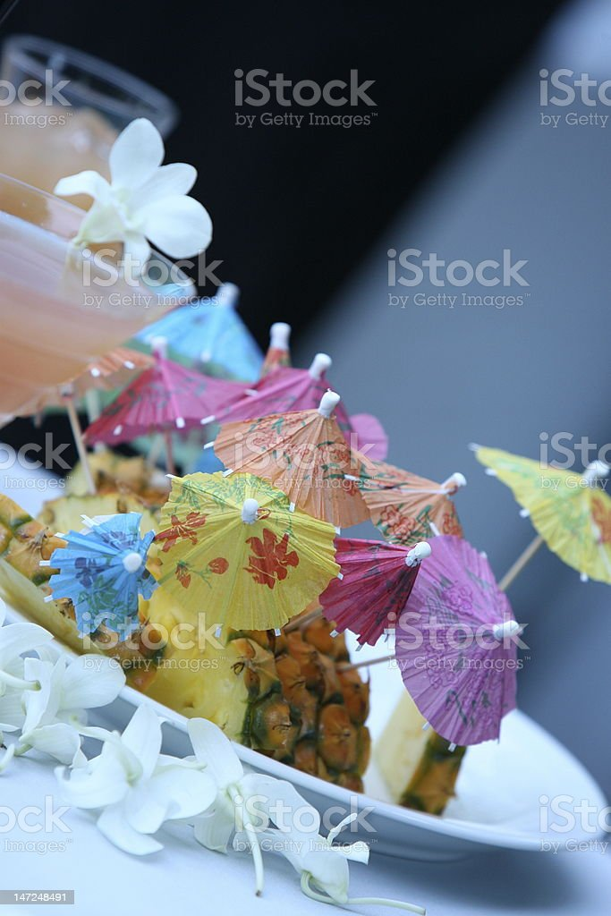 Cocktail Umbrellas royalty-free stock photo
