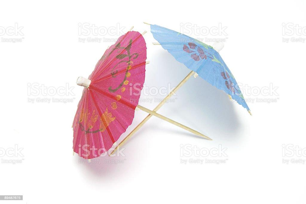 Cocktail Umbrellas royalty-free stock photo