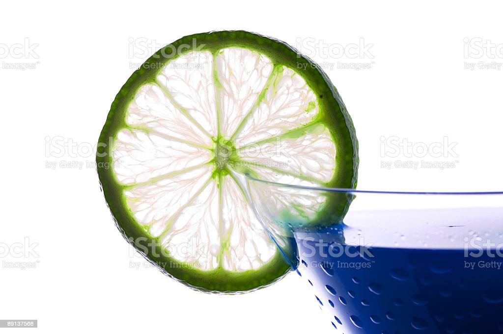 Cocktail with blue curacao royalty-free stock photo