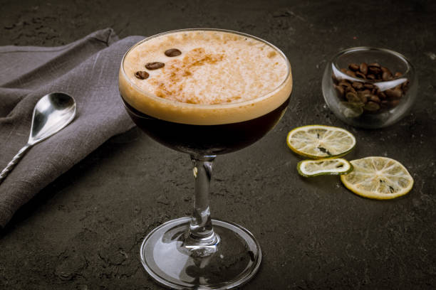 cocktail with coffee cocktail with coffee martini stock pictures, royalty-free photos & images