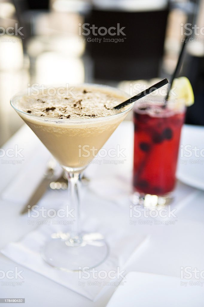 Cocktail with coffee taste royalty-free stock photo