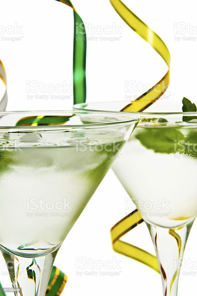 Cocktail with mint leaf royalty-free stock photo
