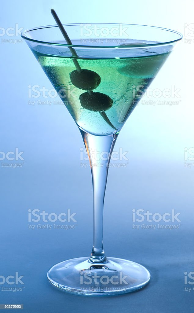 Cocktail with olives royalty-free stock photo