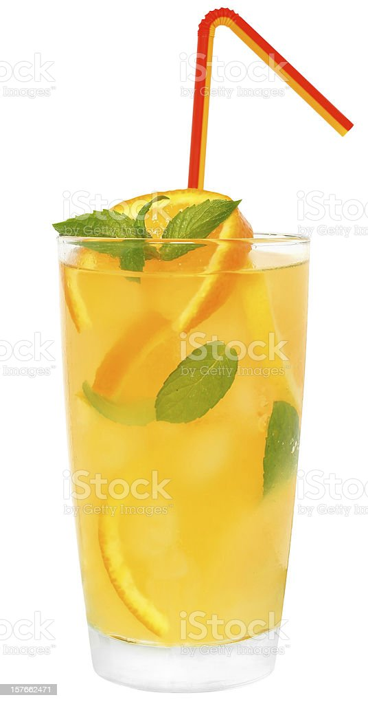 Cocktail with orange and lemon juice royalty-free stock photo