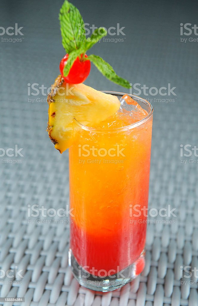 cocktail with pineapple stock photo