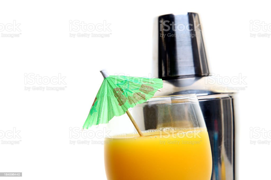 Cocktail with shaker royalty-free stock photo