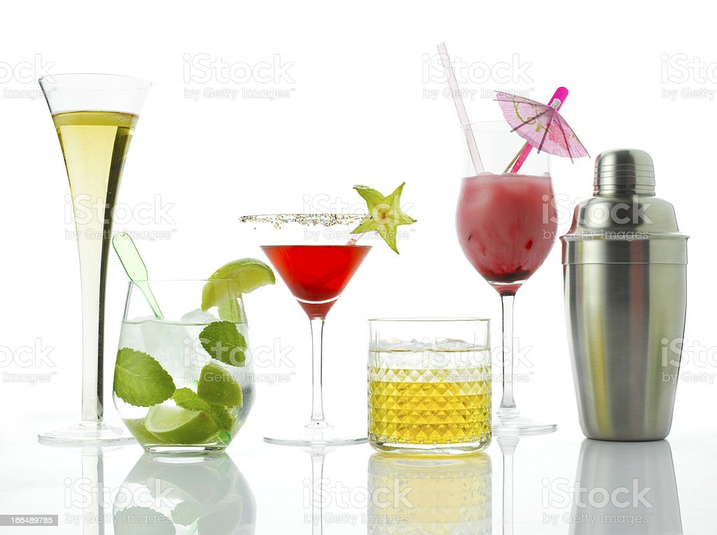 Cocktails And Alcoholic Drinks royalty-free stock photo