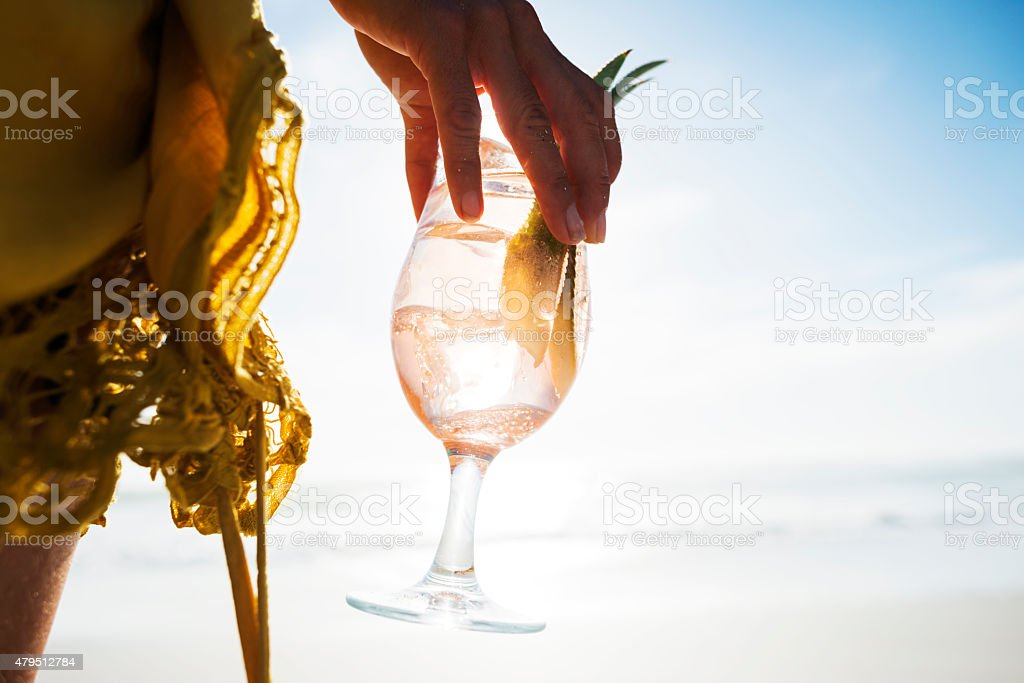 Cocktail al tramonto - foto stock