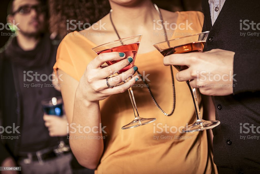 cocktails at the disco royalty-free stock photo