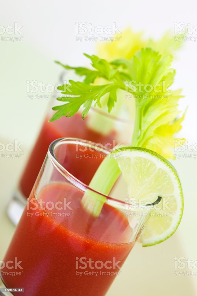 Cocktails: Bloody Mary royalty-free stock photo