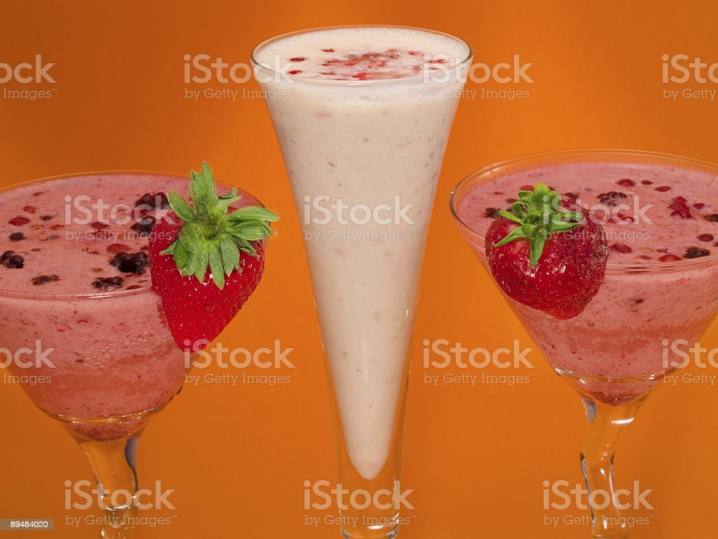 Cocktails Collection - Berry Smoothies royalty-free stock photo