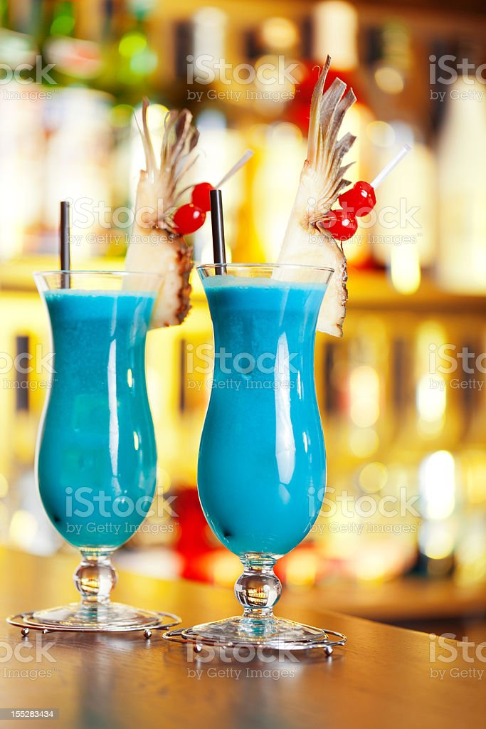 Cocktails Collection - Blue Hawaiian  Alcohol - Drink Stock Photo
