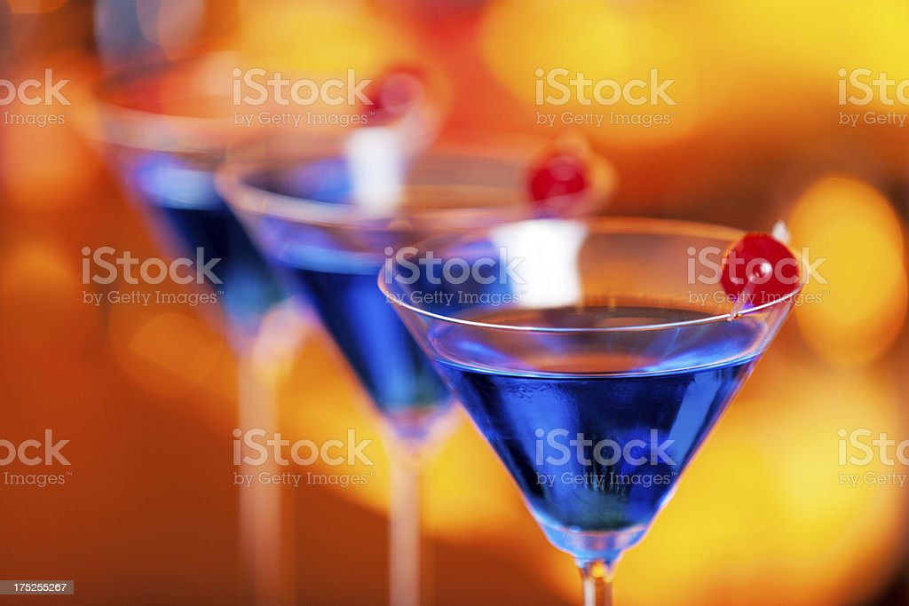Cocktails Collection - Blue Martini stock photo