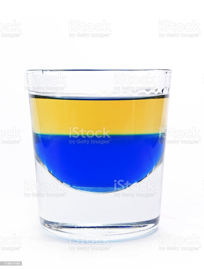 Cocktails Collection - Blue Tequila (on white) royalty-free stock photo