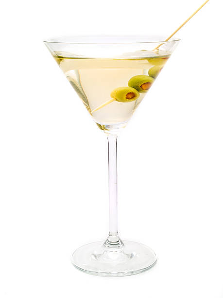 Cocktails Collection - Dry Martini The classical, dry martini should be made with dry vermouth and be garnished with green olives. martini stock pictures, royalty-free photos & images
