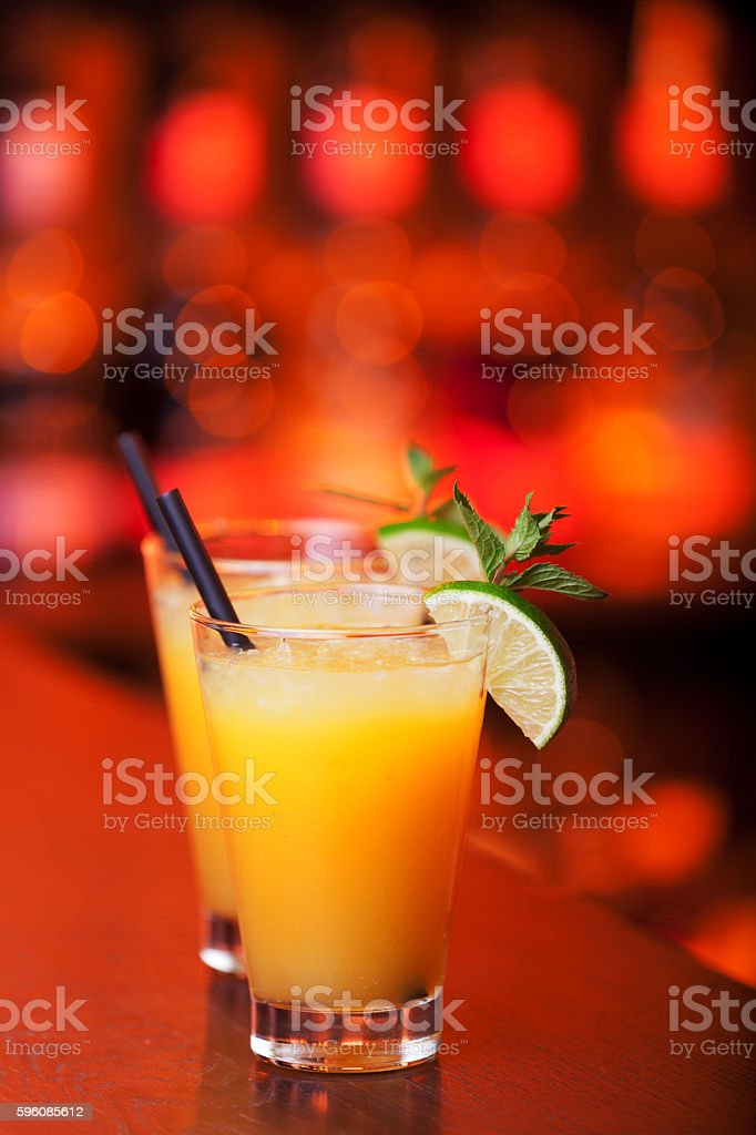 Cocktail collection – Harvey Wallbanger Lizenzfreies stock-foto